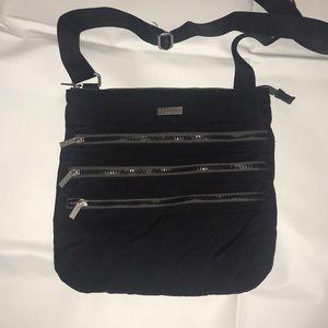 Baggallini 3 Zip Mesh Crossbody Bag
